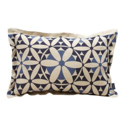 Coussin rect. lin naturel 1001 nuits