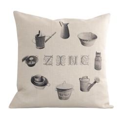 Coussin carré Zinc