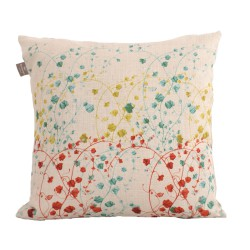 Linen square cushion Muralis