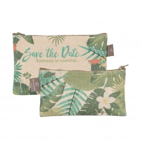 Lot de 2 pochettes plates Jungle