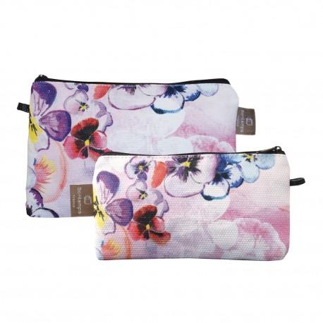 Lot de 2 pochettes plates Violette