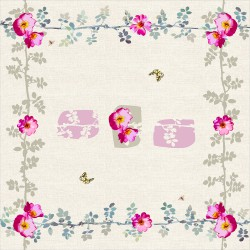 Square tablecloth Rosa