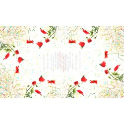Rectangular tablecloth Poppy
