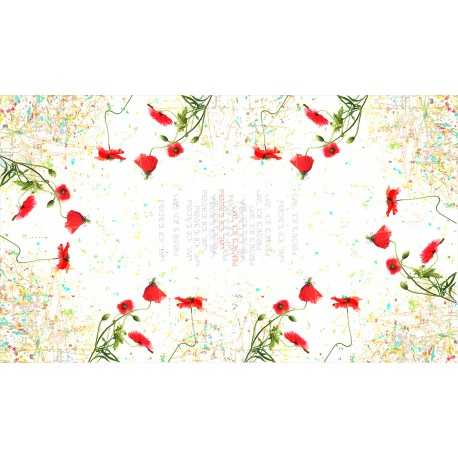 Nappe rectangulaire 250 cm Poppy