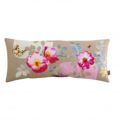 Rectangular velvet cushion Rosa