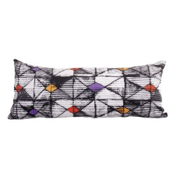 Coussin long velours Origami