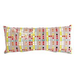 Rectangular velvet cushion Printemps