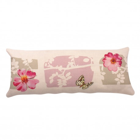 Rectangular linen cushion Rosa