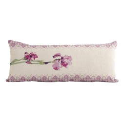 Rectangular linen cushion Iris