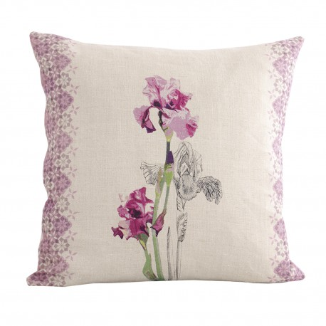 Linen square cushion Iris