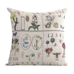 Linen square cushion Succulente