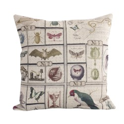 Linen square cushion Petit Musee