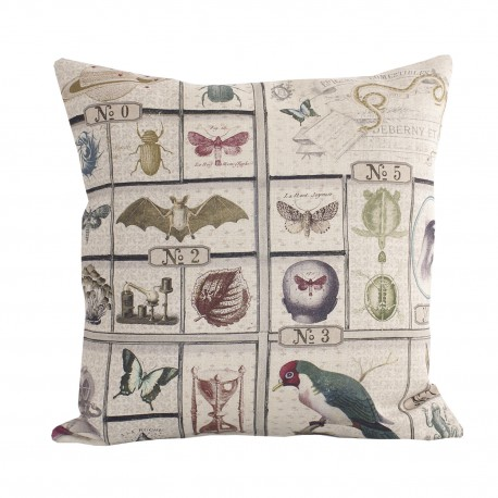 Linen square cushion Petit Musee