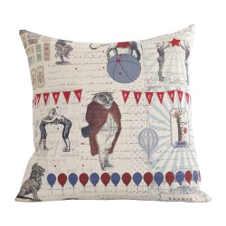 Linen square cushion Circus