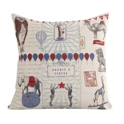 Linen square cushion Sophie