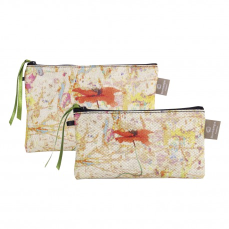 Set of 2 clutches Poppy