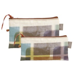Set of 2 clutches Ikat