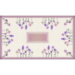 Rectangular tablecloth 250 cm Iris