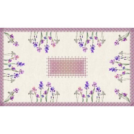 Rectangular tablecloth 250 cm Iris